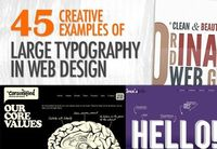 45 examples of large typography in web design