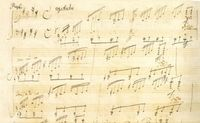 Last Remaining Page of Beethoven's Autograph Manuscript Opus 27 No. 2