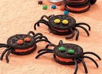 Oreo Spiders, cute!! halloween party