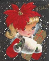 1950s holiday card. #card #Christmas #1950s #fifties #retro