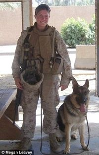 A woman who served in Iraq for more than three years is now fighting to adopt the German Shepherd who she survived a roadside bomb with.