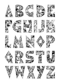 DiskoRobot's hand-drawn alphabet