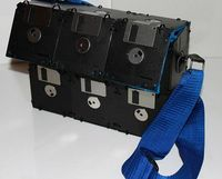 Floppy Disk Bag with Geeky Blue Interior