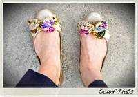 Anthropologie scarf flats from starsforstreetlights.com