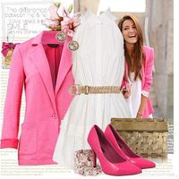 Pink, white, and gold.. I heart.
