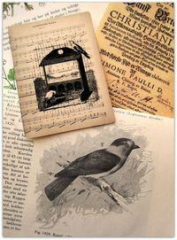 Print onto vintage sheet music, book pages, etc.