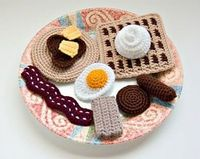 Amigurumi breakfast created by Needlenoodles www.etsy.com/...