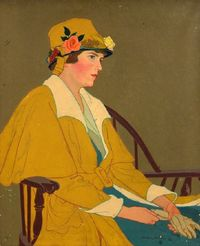 Woman Seated, 1920 Gertrude S. Spaller