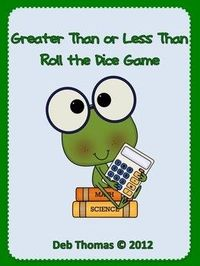 Greater Than and Less Than Roll the Dice Game - FREE