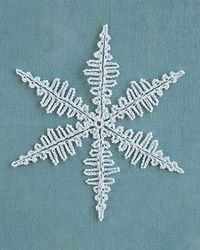Crocheted Snowflake. Research for Christmas tree project.