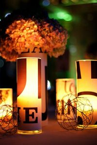 Love the glow & design! Photography by EricaLoeks.com, Flowers by Just-Bloomed.com, Day-Of Event Planning by LauraMullenEvents...