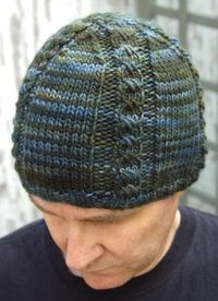 cross stitch mock cable hat free pattern