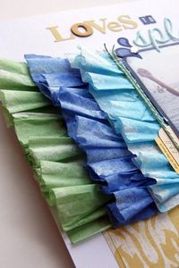 learn how to make fun ruffles with coffee filters
