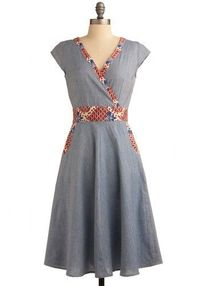 I like wrap style dresses....very flattering! It's woven fabric and fair trade 100% cotton
