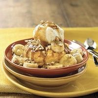 Bananas Foster Ice-Cream Pastry