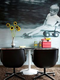 Large, graphic wall mural