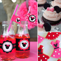 cute minnie themed party!