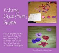 A fun activity to work on ASKING questions - a tough skill to target!