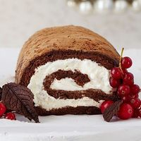 Chocolate Roulade--this year's new dessert. This looks TOO heavenly not to try!