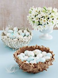 How to make papier-mache Easter nests. #crafts #easter