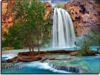 Havasu Falls I think it's going to take about a year to go through all the photos I shot down in that canyon. There are three big waterfalls down there. Mooney Falls is the tallest. Navajo Falls is the widest. This is Havasu Falls, the main one. Proba...