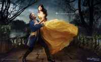 Celebrities Jeff Bridges and Penelope Cruz as Disney characters