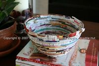 Recycle a Magazine into a bowl.