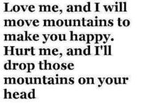 Mountains on your head baby