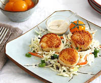 Inspired Edibles: Seared Scallops with Lime infused Tahini