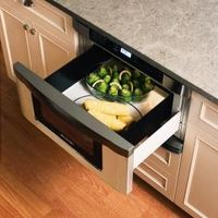 Microwave in a Drawer! The Sharp Insight Pro Microwave Drawer provides easy access to cooked foods. The drawer design also does away with the need to remove dishes from the oven to check and stir food during the cooking process.