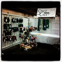The SpaceCadet Creations booth at the Pittsburgh Knit & Crochet Festival