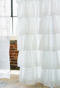 Giant ruffled shower curtain from India Rose