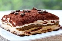"Tiramisu �€"" Layers Of Coffee Soaked Sponge Fingers, Sweet Mascarpone Cream & Chocolate"