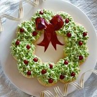 Wreath with cookies