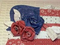 tutorial http://www.owhstarsandstamps.org/2011/06/tutorial-paper-roses-and-quilted-flag.html