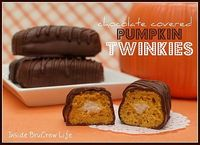 chocolate covered pumpkin twinkies
