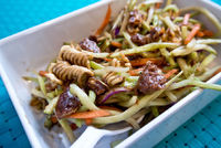 Candied Pecan & Crunchy Broccoli Slaw: Take a look at this delicious Candied Pecan and Crunchy Broccoli Slaw. It's a perfect side dish, sna...[read more at Food Frenzy]