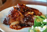 Slow-Roasted Beef Brisket with Apple Cider-Ginger BBQ Sauce and Caramelized Sweet Onions