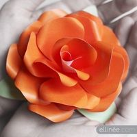 Free paper rose template and tut!