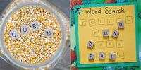 Find the letter tiles in the corn, then put them on the word search...great letter identification and practice reading simple words!