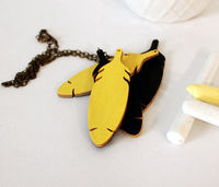 Feather Chalkboard Necklace