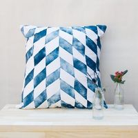 batik pillows by row of letters