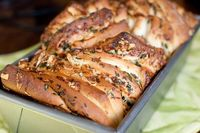 Cheese & Herb Pull Apart Bread, Pink Parsley