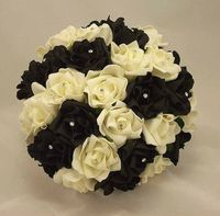 The black and white roses are gorgeous!
