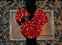Minnie Rolled Rose Bow