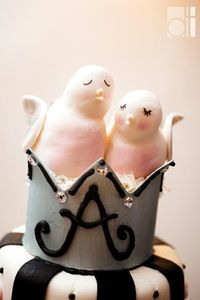 cute cake topper...perhaps at kiddie table...special dessert?