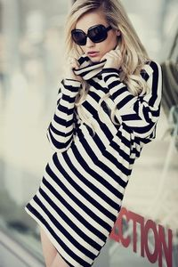 Stripes! Always make a statement, especially when in Black and White!