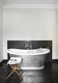 galvanized bathtub