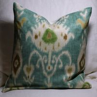 Ikat throw pillow.