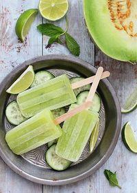 Honeydew Cucumber Margarita Popsicle